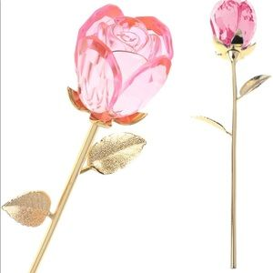 Gold Plated Glass Flower